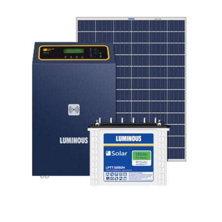 10kW Luminous Solar Complete System price with Panels, Inverter and Battery.
