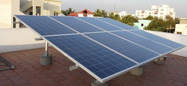 2 Kw solar power plant.