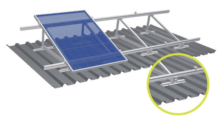 Solar Structure for factory tin shed height