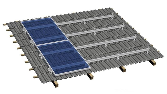Solar structure for factory tin shed