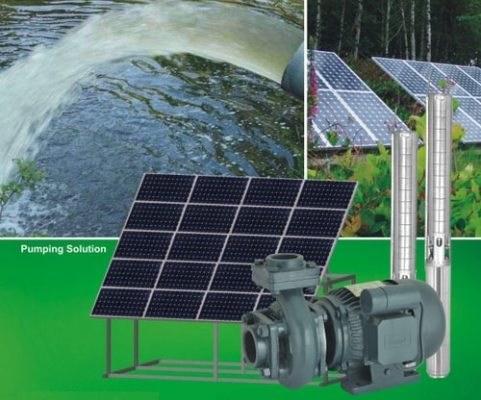 5 HP submersible solar water pump