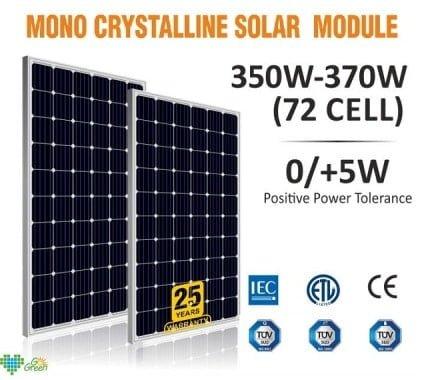 Lubi Solar Mono-Crystalline Solar Panels Price List