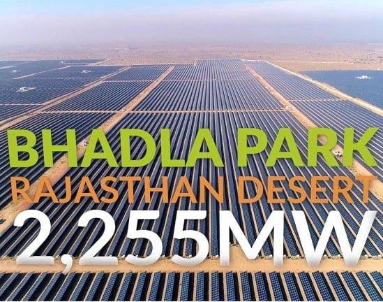 Solar power plants installed at Badla Rajasthan India