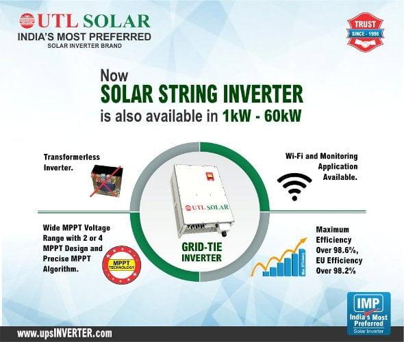 Utl Solar Inverter Price List In India Sept 2020 Kenbrook Solar